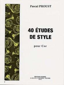 PROUST P. 40 ETUDES DE STYLE COR
