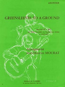 GREENSLEEVES TO A GROUND FLUTE GUITARE