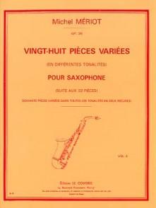 MERIOT M. 28 PIECES VARIEES VOL 2 SAXOPHONE