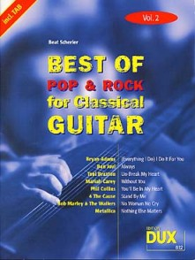 BEST OF POP & ROCK FOR CLASSICAL GUITAR VOL 2