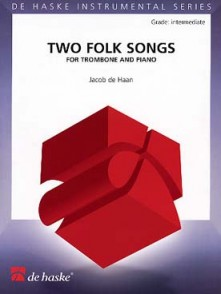 DE HAAN J. 2 FOLK SONGS TROMBONE