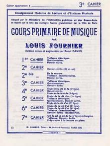FOURNIER L. COURS PRIMAIRE DE MUSIQUE VOL 3