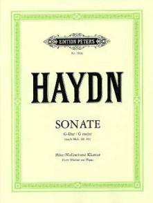 HAYDN J. SONATE SOL MAJEUR FLUTE OU VIOLON