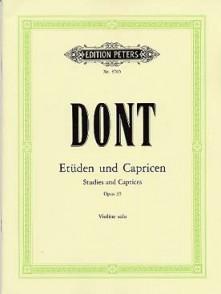 DONT J. ETUDES ET CAPRICES OPUS 35 VIOLON