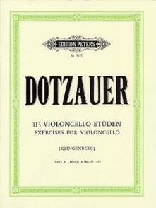 DOTZAUER 113 ETUDES VOL 2 VIOLONCELLE