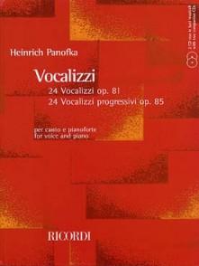 PANOFKA H. 24 VOCALISES PROGRESSIVES OP 85  OP 81CHANT