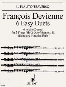 DEVIENNE F. 6 EASY DUETS OP 18 2 FLUTES