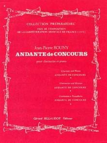 BOUNY J.P. ANDANTE DE CONCOURS CLARINETTE