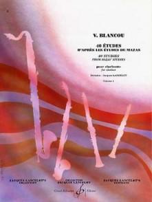 BLANCOU V. 40 ETUDES VOL 1 CLARINETTE