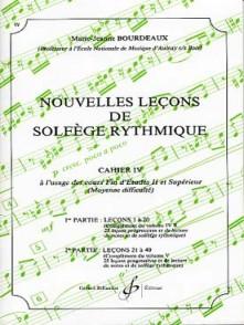 BOURDEAUX M.J. NOUVELLES LECONS DE SOLFEGE RYTHMIQUE VOL 4
