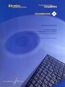 NAULAIS J. ETUDES VARIEES SUR LA SOUPLESSE VOL 2 TROMBONE