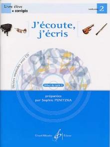 PENITZKA S. J'ECOUTE J'ECRIS VOL 2