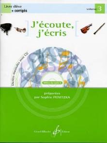 PENITZKA S. J'ECOUTE J'ECRIS VOL 3