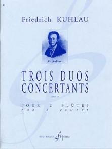 KUHLAU F. 3 DUOS CONCERTANTS OP 10 2 FLUTES