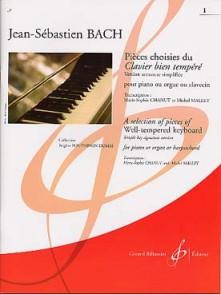 BACH J.S. PIECES CHOISIES VOL 1 PIANO