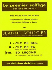 BOURCIER J. PREMIER SOLFEGE CLES DE SOL ET FA