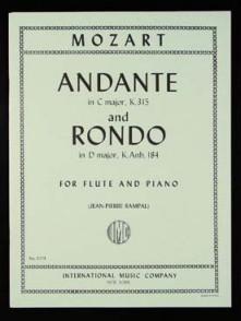 MOZART W.A. ANDANTE K315 ET RONDO K.AnH 184 FLUTE