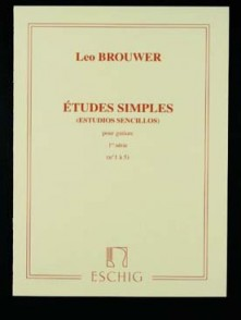 BROUWER L. ETUDES SIMPLES 1RE SERIE GUITARE