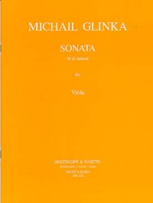 GLINKA M. SONATE EN RE MINEUR ALTO
