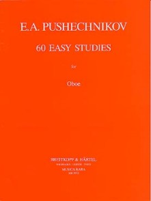 PUSHECHNIKOV E. A. 60 EASY STUDIES HAUTBOIS