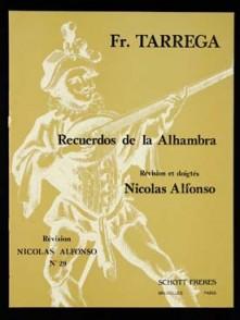TARREGA F. RECUERDOS DE LA ALHAMBRA GUITARE