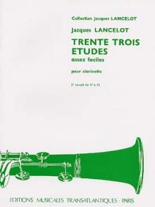 LANCELOT J. 33 ETUDES VOL 2 CLARINETTE