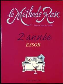 VAN DE VELDE METHODE ROSE VOL 2 ESSOR PIANO