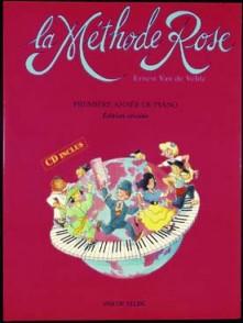 VAN DE VELDE METHODE ROSE AVEC CD PIANO