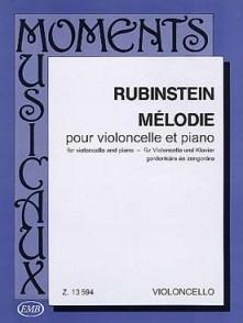 RUBINSTEIN A. MELODIE OP 3 N°1 VIOLONCELLE
