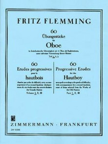 FLEMMING F. 60 ETUDES PROGRESSIVES VOL 1 HAUTBOIS