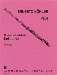 KOHLER E. 20 LEITCHE MELODISCHE LEKTIONEN VOL 1 FLUTE