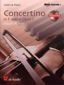 HUBER A. CONCERTINO OP 7 VIOLON