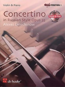 JANSCHINOW A. CONCERTINO OP 35 VIOLON