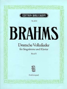BRAHMS J. DEUTSCHE VOLKSLIEDER VOL 2 CHANT PIANO