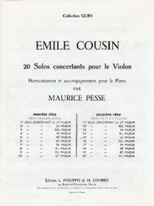 COUSIN E. 15ME SOLO CONCERTANT VIOLON