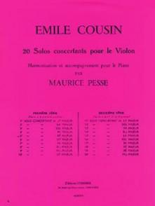 COUSIN E. 4ME SOLO CONCERTANT VIOLON
