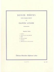 LITAIZE G. 12 PIECES VOL 2 ORGUE