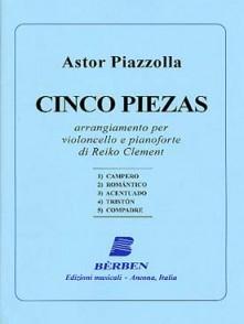 PIAZZOLLA A. CINCO PIEZAS VIOLONCELLE