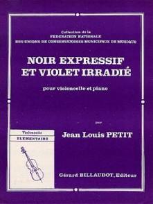 PETIT J.L. NOIR EXPRESSIF ET VIOLET IRRADIE VIOLONCELLE