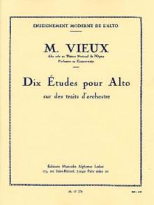 VIEUX M. ETUDES SUR TRAITS D'ORCHESTRE ALTO