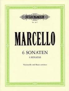 MARCELLO B. 6 SONATEN OP 2 VIOLONCELLE