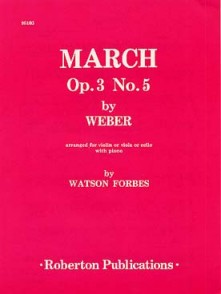 WEBER C.M. MARCH OP 3 N°5 VIOLONCELLE