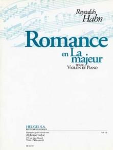 HAHN R. ROMANCE EN LA MAJEUR VIOLON