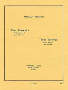 DEMUTH N. PASTORALES D'PARES RONSARD FLUTE SOLO