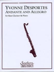 DESPORTES Y. ANDANTE ET ALLEGRO CLARINETTE BASSE