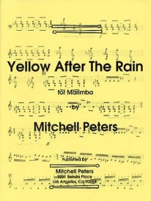 PETERS M. YELLOW AFTER THE RAIN MARIMBA