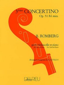 ROMBERG B. CONCERTINO OP 51 N°3 VIOLONCELLE