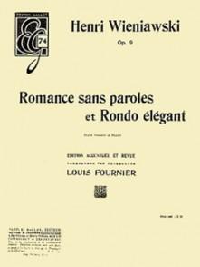 WIENIAWSKI H. ROMANCE SANS PAROLES - RONDO OP 9 VIOLON