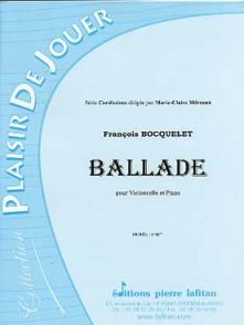 BOCQUELET F. BALLADE VIOLONCELLE