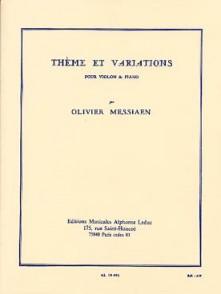 MESSIAEN O. THEME ET VARIATIONS VIOLON